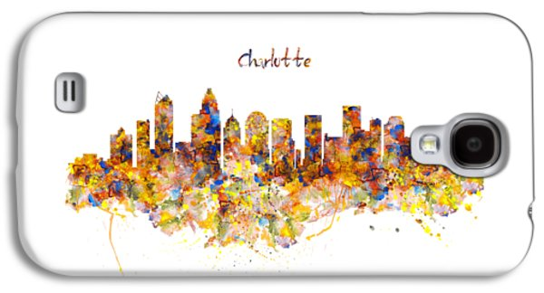 Charlotte Watercolor Skyline Galaxy S4 Case