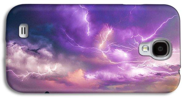 Nebraskasc Galaxy S4 Case - Chasing Nebraska Lightning 056 by NebraskaSC