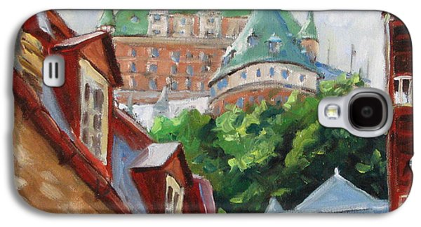 City Scape Galaxy S4 Cases - Chateau Frontenac Galaxy S4 Case by Richard T Pranke