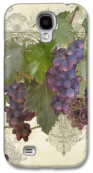 Chateau Pinot Noir Vineyards - Vintage Style Galaxy S4 Case by Audrey Jeanne Roberts