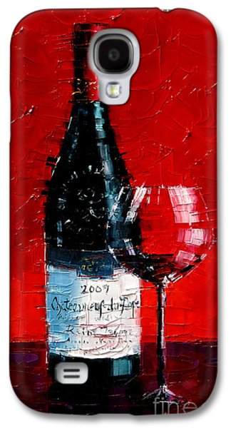 Still Life With Wine Bottle And Glass I Galaxy S4 Case