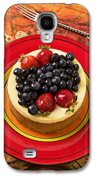 Cheesecake On Red Plate Galaxy S4 Case