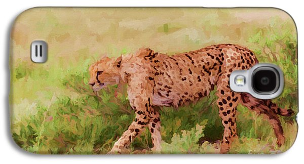 Cheetah Acinonyx Jubatus Etosha Np Namibia Galaxy S4 Case by Liz Leyden