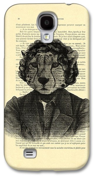 Cheetah On Dictionary Book Page Galaxy S4 Case