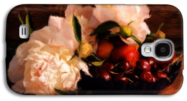 Cherries And Peonies  Galaxy S4 Case by Georgiana Romanovna