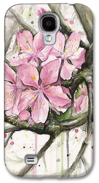 Cherry Blossoms Galaxy S4 Case - Cherry Blossom by Olga Shvartsur