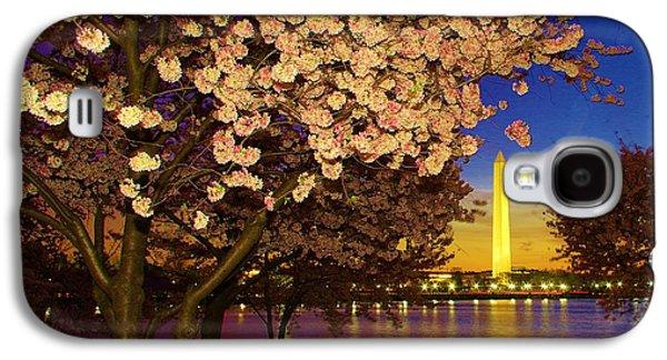 Cherry Blossom Washington Monument Galaxy S4 Case