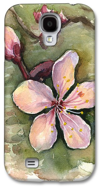 Cherry Blossoms Galaxy S4 Case - Cherry Blossom Watercolor by Olga Shvartsur