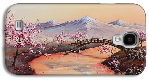 Cherry Blossoms In The Mist - Revisited Galaxy S4 Case by Joe Mandrick