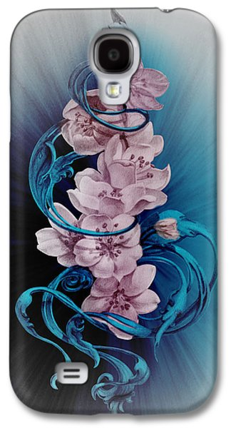 Cherry Blossoms On Blue Galaxy S4 Case by Irina Effa