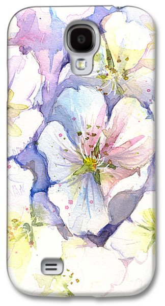 Cherry Blossoms Galaxy S4 Case - Cherry Blossoms Watercolor by Olga Shvartsur
