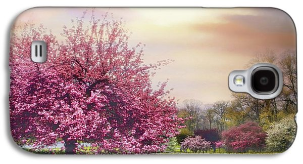 Galaxy S4 Case featuring the photograph Cherry Orchard Hill by Jessica Jenney