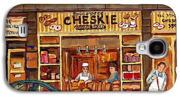 Cheskies Hamishe Bakery Galaxy S4 Case by Carole Spandau