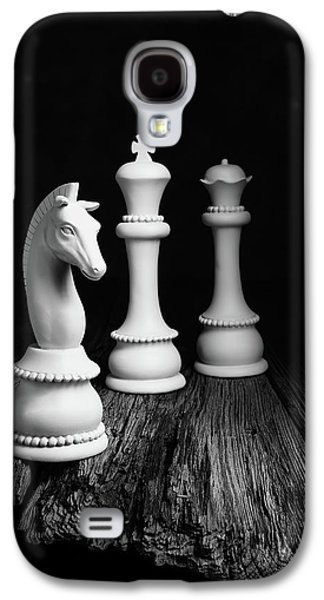 Knight Galaxy S4 Case - Chess Pieces On Old Wood by Tom Mc Nemar