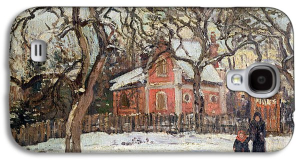 Chestnut Trees At Louveciennes Galaxy S4 Case by Camille Pissarro