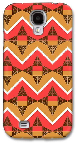 Chevron And Triangles Galaxy S4 Case by Gaspar Avila