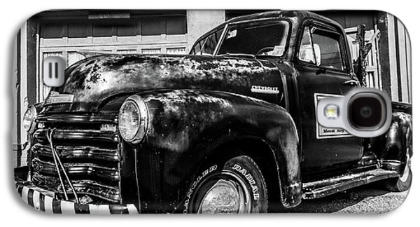 Chevy Pickup At Wally's Galaxy S4 Case by Cynthia Wolfe