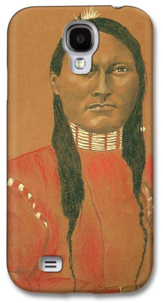 Cheyenne Scout Red Sleeve, 1879 -- Historical Portrait Of Native American Man Galaxy S4 Case by Jayne Somogy