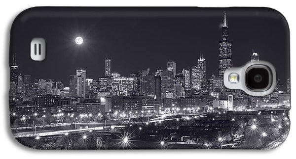 Willis Tower Galaxy S4 Cases - Chicago By Night Galaxy S4 Case by Steve Gadomski