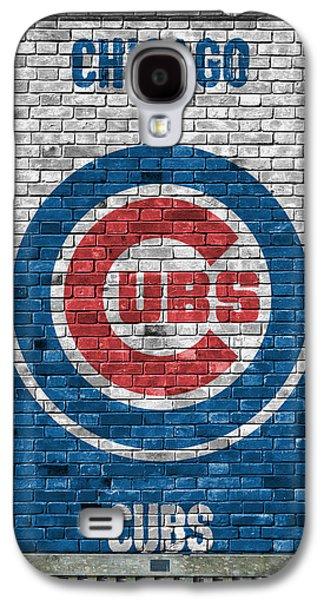 Chicago Cubs Brick Wall Galaxy S4 Case by Joe Hamilton