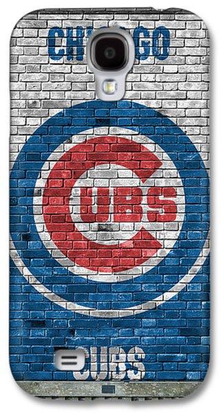 City Scenes Galaxy S4 Case - Chicago Cubs Brick Wall by Joe Hamilton