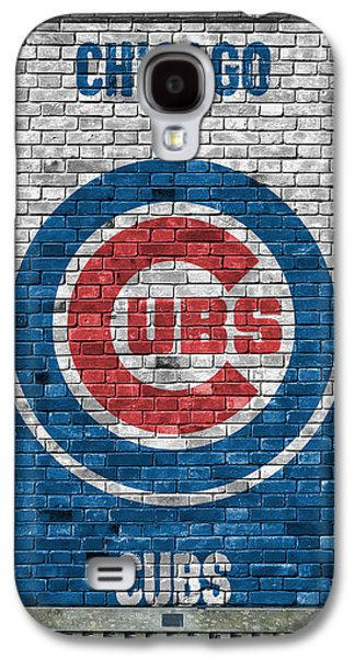 Chicago Galaxy S4 Case - Chicago Cubs Brick Wall by Joe Hamilton