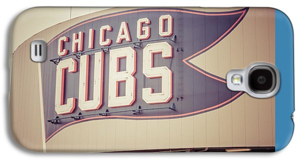 Chicago Cubs Sign Vintage Picture Galaxy S4 Case by Paul Velgos