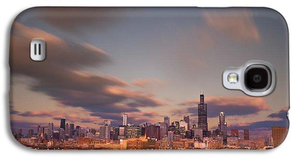 City Sunset Galaxy S4 Case - Chicago Dusk by Steve Gadomski