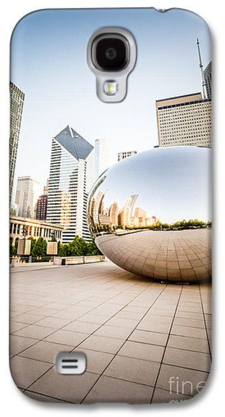 Chicago Gloud Gate And Chicago Skyline Photo Galaxy S4 Case by Paul Velgos