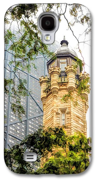 Galaxy S4 Case featuring the painting Chicago Historic Water Tower Fog by Christopher Arndt