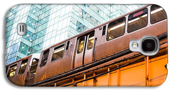 Train Galaxy S4 Case - Chicago L Elevated Train  by Paul Velgos