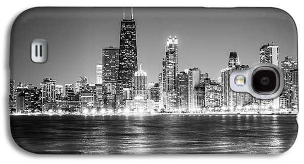 Chicago Lakefront Skyline Black And White Photo Galaxy S4 Case by Paul Velgos