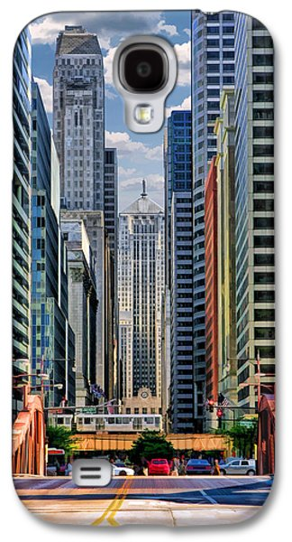 Galaxy S4 Case featuring the painting Chicago Lasalle Street by Christopher Arndt