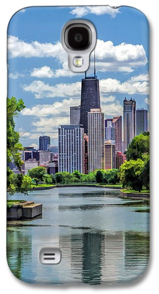 Galaxy S4 Case featuring the painting Chicago Lincoln Park Lagoon by Christopher Arndt