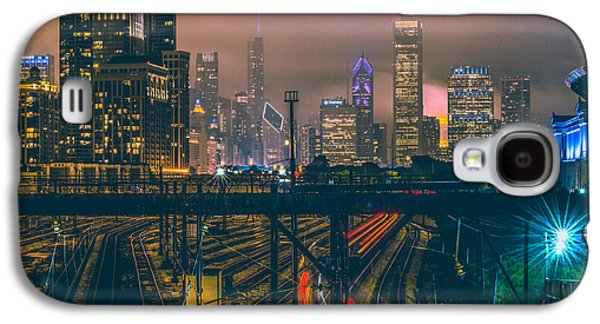 Skyline Galaxy S4 Case - Chicago Night Skyline  by Cory Dewald