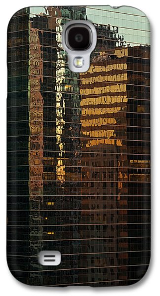 Chicago River Galaxy S4 Cases - Chicago Reflected Galaxy S4 Case by Steve Gadomski