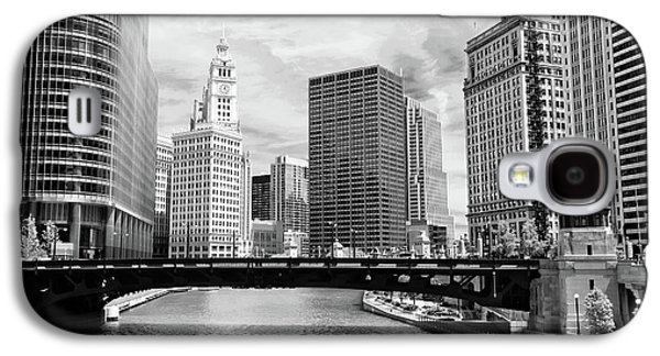 Chicago River Buildings Skyline Galaxy S4 Case by Paul Velgos