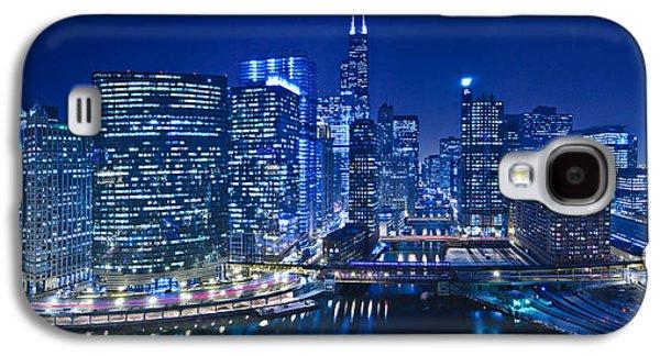 Chicago River Panorama Galaxy S4 Case by Steve Gadomski