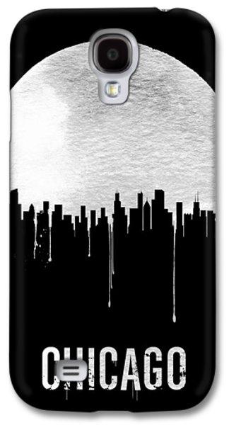 Chicago Skyline Black Galaxy S4 Case by Naxart Studio