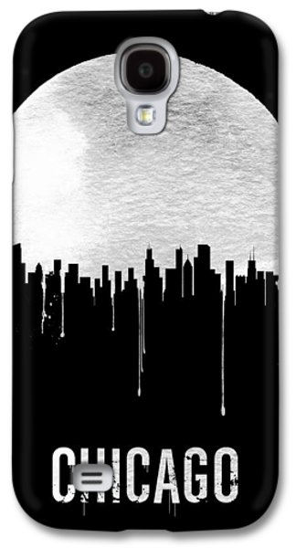 Chicago Skyline Black Galaxy S4 Case by Naxart Studio