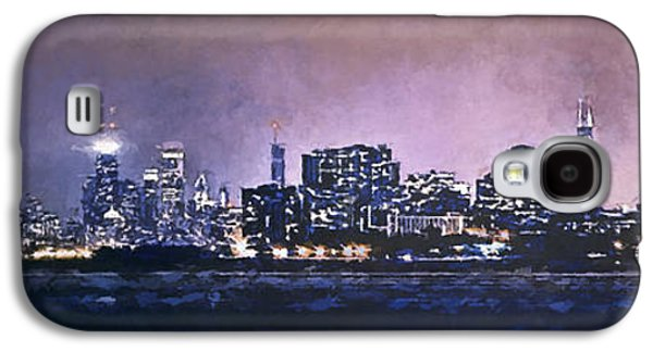 Lake Michigan Galaxy S4 Case - Chicago Skyline From Evanston by Scott Norris