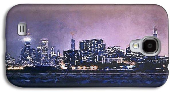 Downtown Galaxy S4 Case - Chicago Skyline From Evanston by Scott Norris