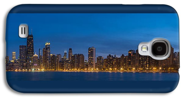 Chicago Skyline From North Ave Beach Panorama Galaxy S4 Case by Steve Gadomski