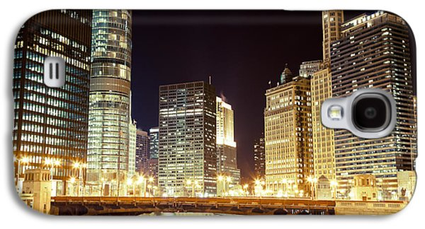 Chicago State Street Bridge At Night Galaxy S4 Case by Paul Velgos
