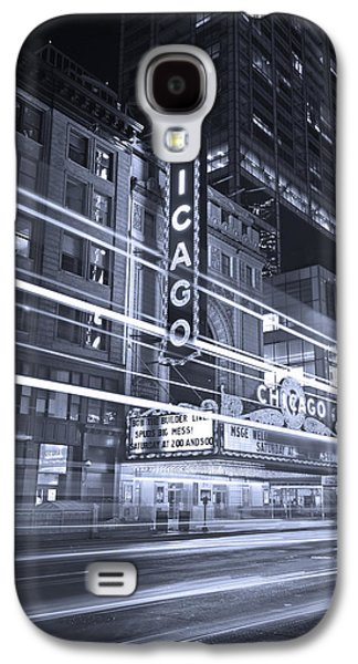 Chicago Theater Marquee B And W Galaxy S4 Case by Steve Gadomski