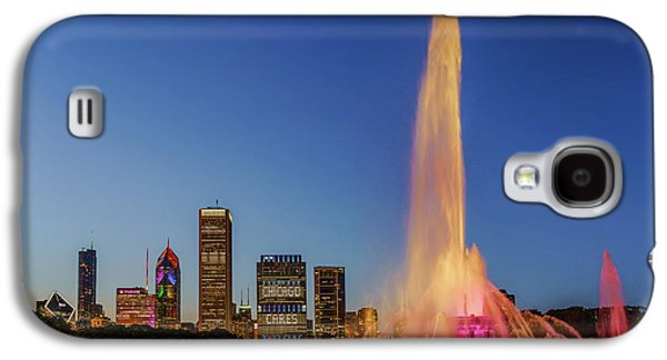 #chicagocares - Buckingham Fountain Rainbows Galaxy S4 Case by Scott Campbell
