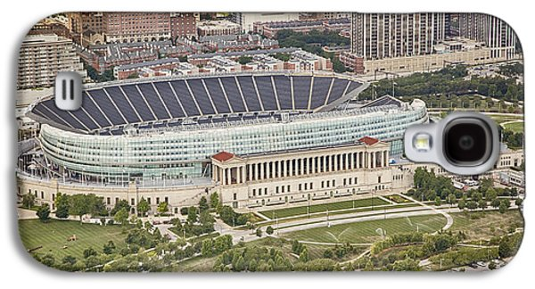 Galaxy S4 Case featuring the photograph Chicago's Soldier Field Aerial by Adam Romanowicz