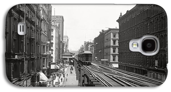 Chicago's Wabash Avenue  1900 Galaxy S4 Case by Daniel Hagerman