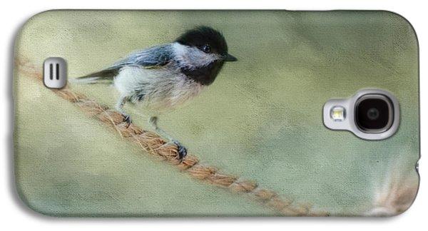 Chickadee At The Shore Galaxy S4 Case by Jai Johnson