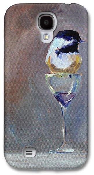 Chickadee Wine Galaxy S4 Case by Nancy Merkle